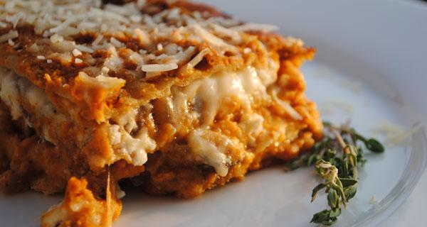 lasagne con zucca e formaggi
