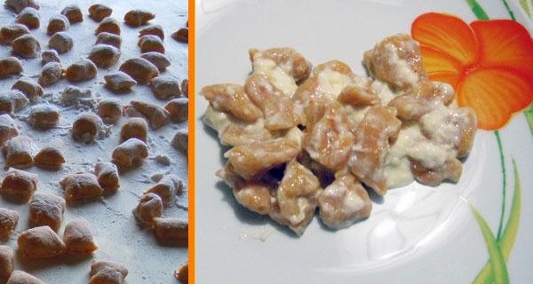 gnocch di -zucca con patate e taleggio